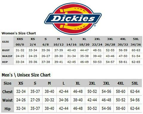 Water tower place uniforms inc dickies size chart